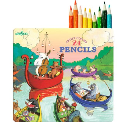 Coloured pencils, 24 pcs, lake party