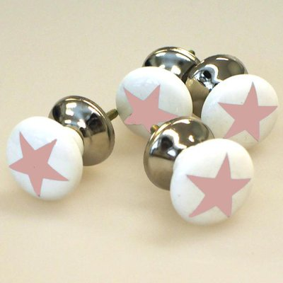Door knob 4 pcs star