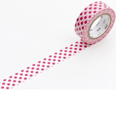 Washi tape balls red
