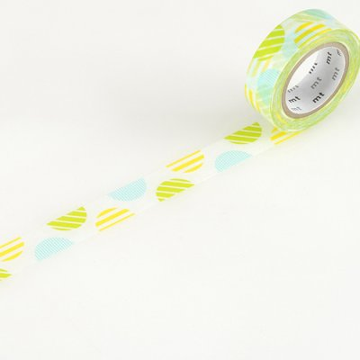 Washi tape balls lime