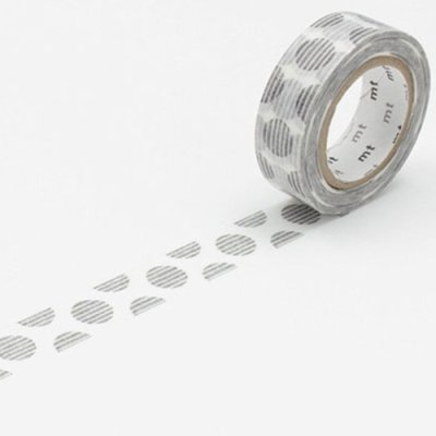 Washi tape balls grey