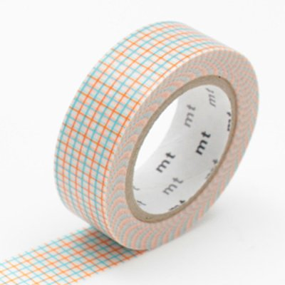 Washi tape box blue-orange