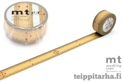 Washi tape bamboo measure