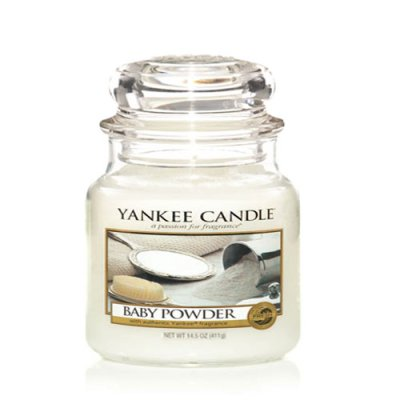 Scented candle Baby Powder M
