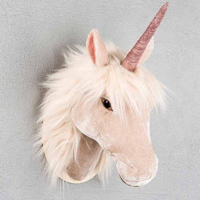 Decoration horse pale pink 42 cm